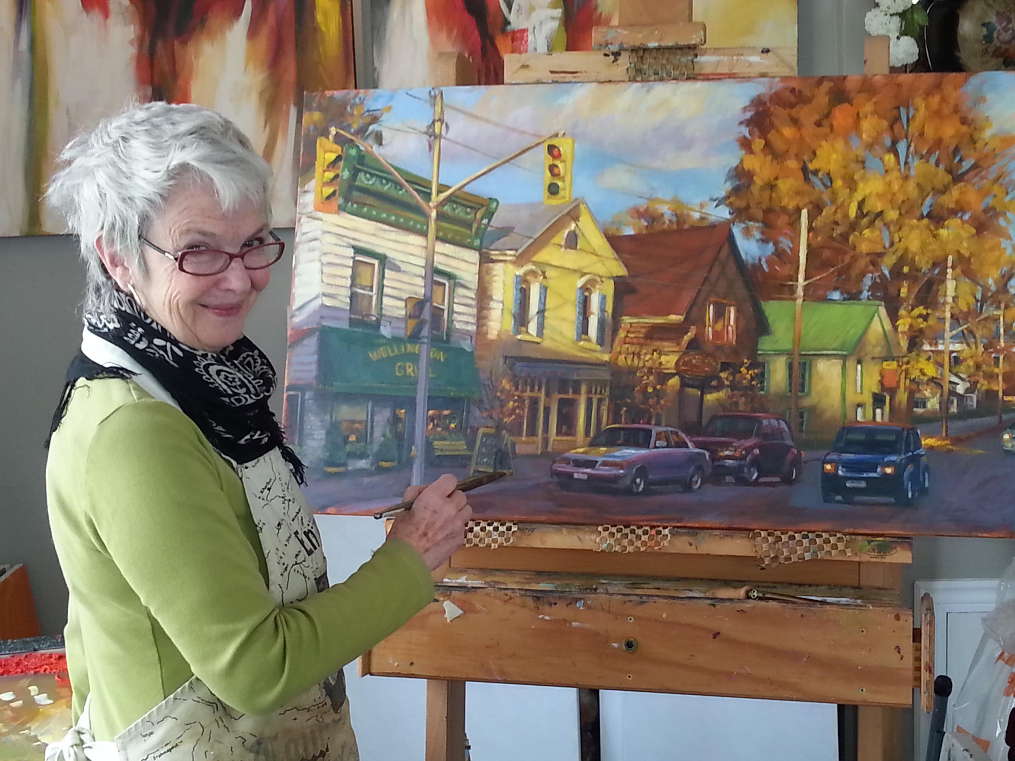 Pamela Carter at work in her studio.